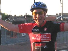 BBC Radio Norfolk's Bob Carter riding The Tour of Britain route through Norfolk