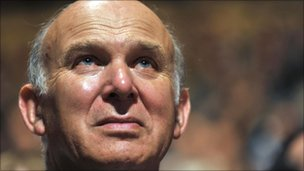 UK business secretary, Vince Cable