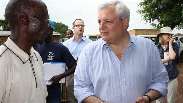 Stephen O'Brien in Uganda