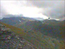 Snowdon webcam - courtesy Snowdonia Weather Stations Project