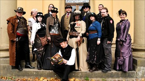 Steampunks in Lincoln at the Weekend at the Asylum 2009
