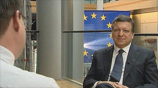 The European Commission President, Jose Manuel Barroso.
