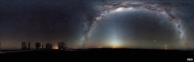 Milky Way from Paranal platform (Eso)