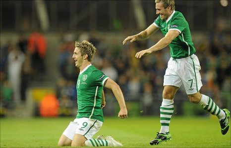Kevin Doyle and Liam Lawrence