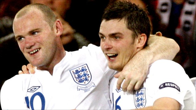 Wayne Rooney and Adam Johnson