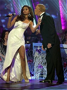 Alesha Dixon and Bruce Forsyth on last year's Strictly Come Dancing