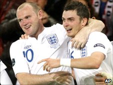 Wayne Rooney (left) and Adam Johnson (right)