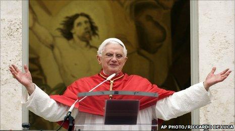 Pope Benedict XVI pIC: AP Photo/Riccardo De Luca