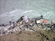 Flood damage in the village of Qandil