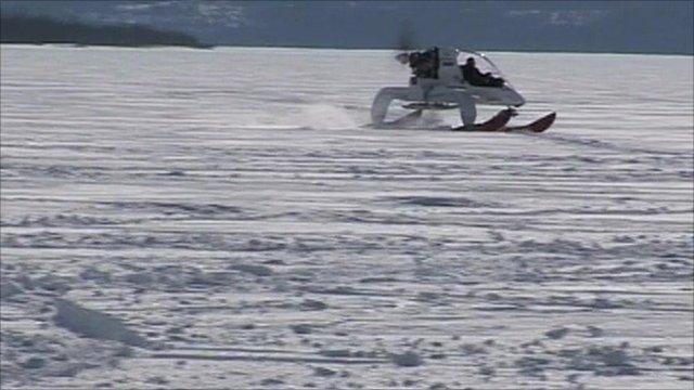 bio fuel snow vehicle