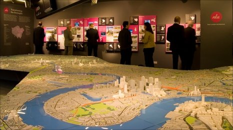 Model of London focusing on East End