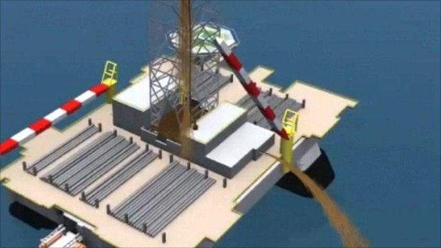 Graphic from BP corporate video on Gulf of Mexico oil spill