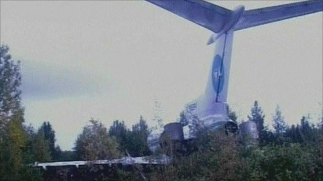 Plane crashed in Siberia woods