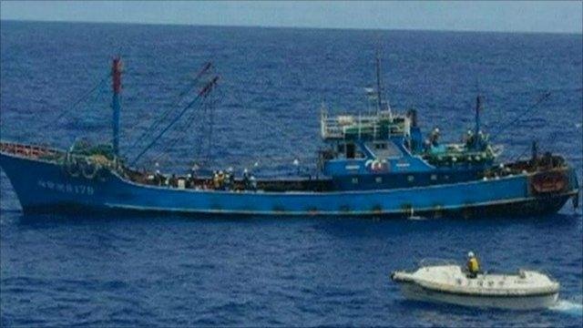 Chinese trawler