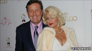 Piers Morgan and Paris Hilton