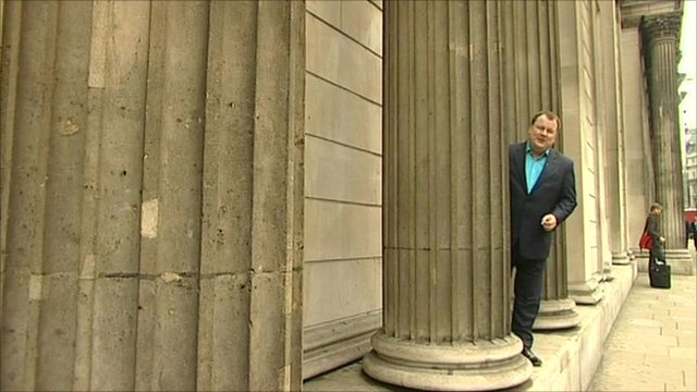 BBC&#039;s Declan Curry at the Bank of England