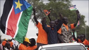 Pro-independence campaigners in Southern Sudan (August 2011)