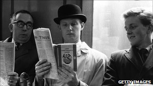 File picture of man reading Lady Chatterley's Lover in 1960