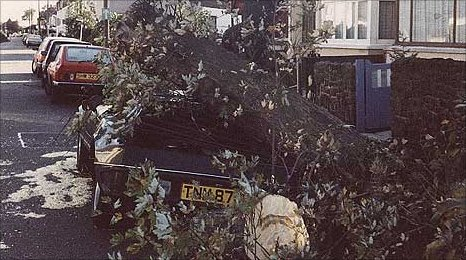 1987 storm damage in Shoeburyness