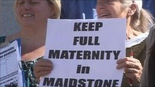 Maternity protest