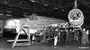 Wellington bomber at Broughton factory