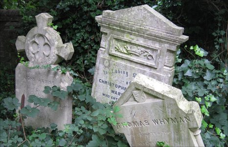 Gravestones in Cambridge's Ascension Burial Ground