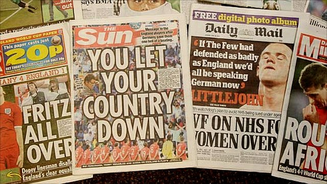 British tabloid newspapers