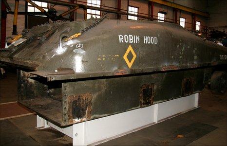 The Robin Hood Sherman tank