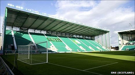 Hibernian's new East Stand