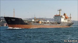 The Bulgarian chemical tanker Panega