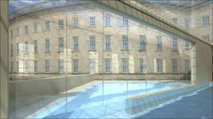 Artist's impression of Buxton Spa