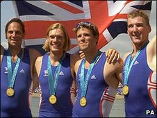 Matt Pinsent (right) won four gold medals at four different Olympic Games