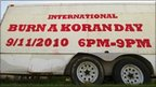 'Burn a Koran Day' sign