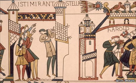 Halley&#039;s Comet on the Bayeux Tapestry (Getty)