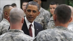 President Obama and army soldiers (file image)