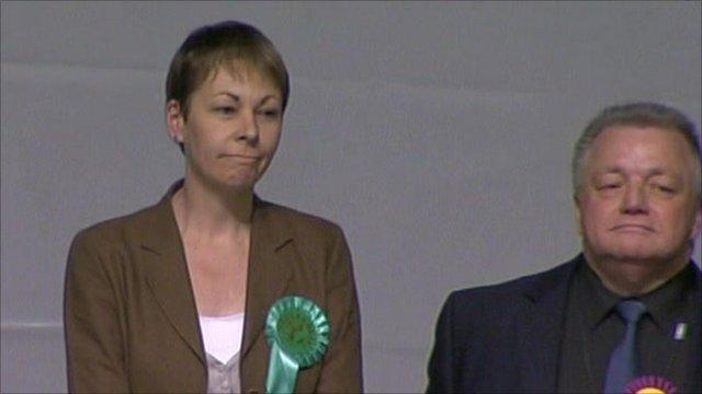 Caroline Lucas on election night