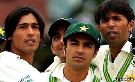 Mohammad Amir, Salman Butt and Mohammad Asif