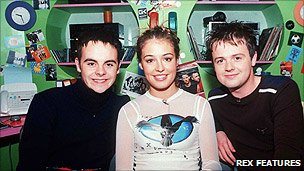 Ant, Cat Deeley and Dec on CD:TV