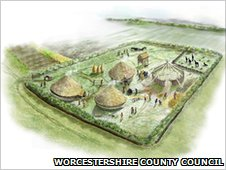 Artist's impression of a Iron Age settlement