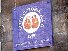 McCallum boxes at Leith Victoria Amateur Athletic Club