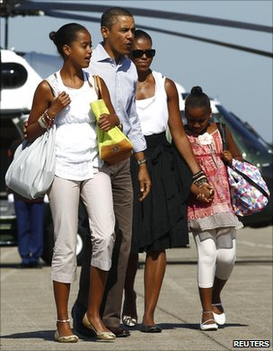 Obama family (Reuters)