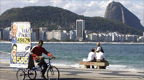 Campaign worker in Rio de Janeiro