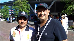 Fans Nalin Gandhi and Raj Nagdev in New York