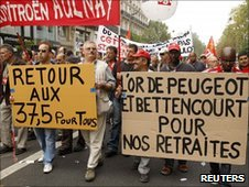Workers strike in Paris