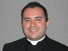 Father Luke Goymour, curate at St John's Cathedral in Norwich