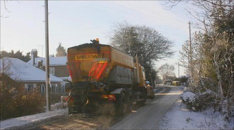 Grit spreading in Lincolnshire last year