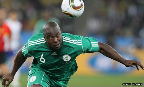 Danny Shittu in action for Nigeria