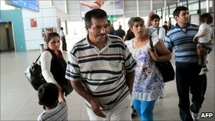 A group of Roma people arrive in Sofia airport after being expelled from France, 10 September