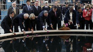 US Vice President Joe Biden and others at Ground Zero commemorations - 11 Sept 2010