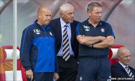 Kenny McDowell, Walter Smith and Ally McCoist